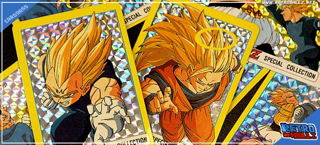 unofficial Dragon ball z card special gold metal super battle 06